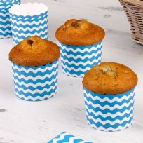 Carnival Blue Baking Cups - Waves (24)